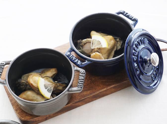 ストウブで牡蠣の蒸し焼き