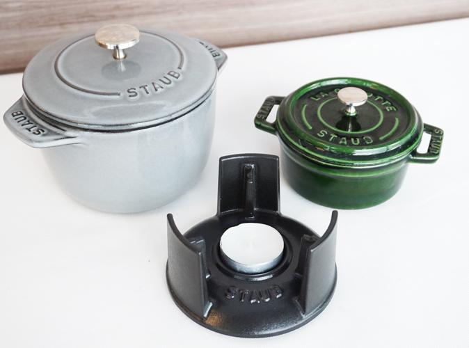 STAUBのスモールバーナーに使える鍋は?